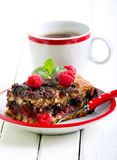 Slice of chocolate and raspberry cake Royalty Free Stock Image