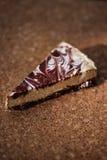 A slice of chocolate raw cake Royalty Free Stock Photos