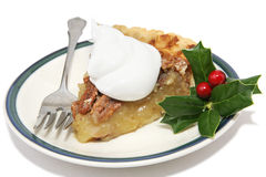 Slice of Christmas Pie stock photography