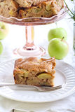Slice of chunky apple cake Royalty Free Stock Photo