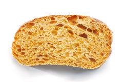 Slice of Ciabatta. Royalty Free Stock Photography