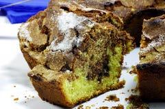 Slice of ciambellone. Slice of Italian chocolate cake called ciambellone Stock Image