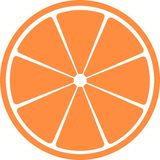 Slice of citrus fruit . A vector illustration. It is isolated on a white background Stock Image