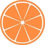 Slice of citrus fruit . Stock Image