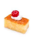 Slice of coconut cake Royalty Free Stock Photo