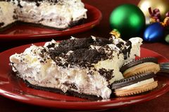 Slice of cookies and cream pie Stock Photography