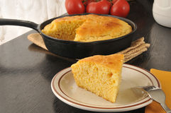 Slice of cornbread Royalty Free Stock Photography