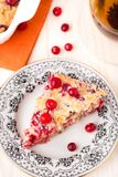 Slice of cranberry pie Royalty Free Stock Photo