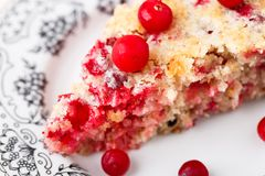 Slice of cranberry pie Royalty Free Stock Photos