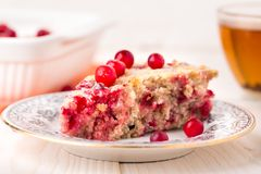 Slice of cranberry pie Stock Photography
