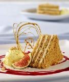 Slice of cream cake Royalty Free Stock Images
