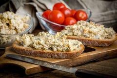 Mackerel fish paste. Stock Photos