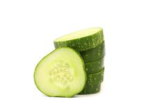 Slice and ctack of cucumber. Stock Image