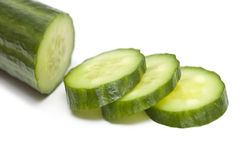 Slice of cucumber Stock Photos