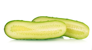Slice of a cucumber Royalty Free Stock Photos