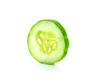 Slice cucumber isolated on the white background Royalty Free Stock Photography