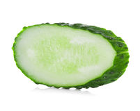 Slice cucumber on white Royalty Free Stock Photography