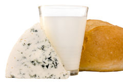 Slice of the Danish blue cheese Stock Image