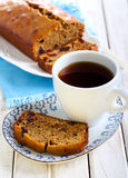 Slice of Date and coffee cake Royalty Free Stock Images