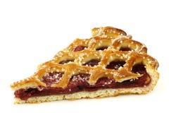 Slice of decorated cherry pie  Stock Photo