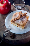 Slice of delicious apple pie Royalty Free Stock Images