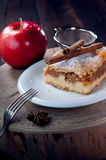 Slice of delicious apple pie Royalty Free Stock Image