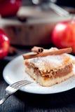 Slice of delicious apple pie Royalty Free Stock Photos
