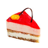 Slice of delicious berries cake Royalty Free Stock Image