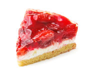 Slice of delicious cake with fresh berry Stock Photo