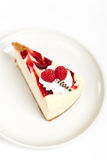 Raspberry cheesecake slice Royalty Free Stock Image