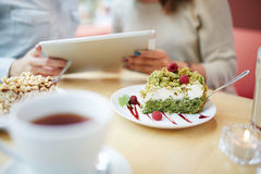 Slice of delicious eco cake Stock Photography