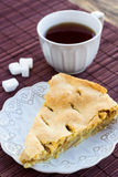 Slice of delicious fresh baked american apple pie on a plate Royalty Free Stock Photo