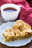 Slice of delicious fresh baked american apple pie on a plate Royalty Free Stock Photography