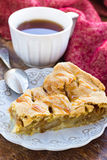 Slice of delicious fresh baked american apple pie on a plate Stock Image