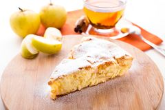 Slice of delicious fresh baked apple pie Royalty Free Stock Images