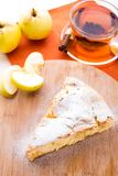 Slice of delicious fresh baked apple pie Royalty Free Stock Image