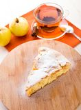 Slice of delicious fresh baked apple pie stock images