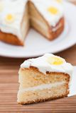 Slice of delicious lemon cake Royalty Free Stock Photos