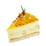 Slice of delicious mango cake Royalty Free Stock Images