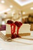 Slice of delicious raspberry cheese cake Stock Photography
