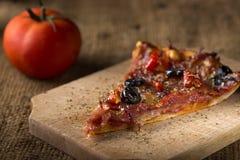 Slice of Diavola Pizza Royalty Free Stock Photos