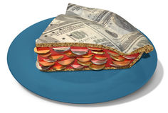 Slice Of Dollar Money Pie Royalty Free Stock Images