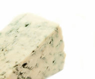 Slice dor blue cheese isolated on white background Stock Photo