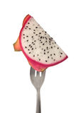 Slice of dragonfruit Royalty Free Stock Image