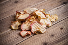 Slice Dried Apple fruit Royalty Free Stock Images