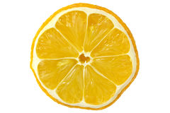 Slice of dry lemon Stock Photography