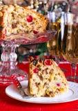 Slice of Dundee cake Royalty Free Stock Image