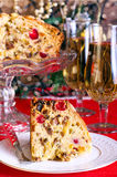 Slice of Dundee cake Royalty Free Stock Photos