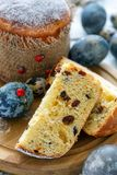 Slice of Easter cake. Royalty Free Stock Photography