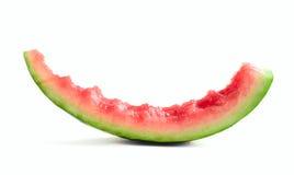Slice of eaten watermelon Stock Photography